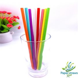 Wholesale solid color paper straws mixed 8 styles 5000pcs