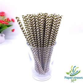 Chevron paper straws coffee waves 200pcs