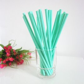 Solid color paper straws full Seafoam 200pcs