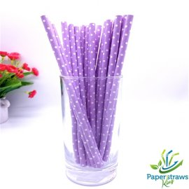 Polka dot paper straws purple with small white dots 200pcs.jpg