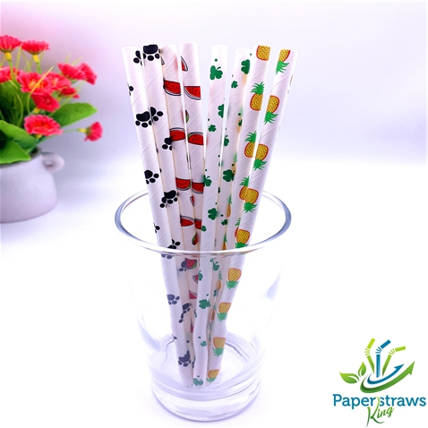 Wholesale theme paper straws mixed 4 styles 5000pcs